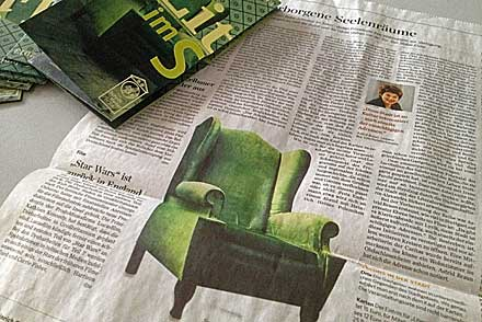 Die Stuttgarter Zeitung vom 14. Mai 2013 über »Literatur im Salon«