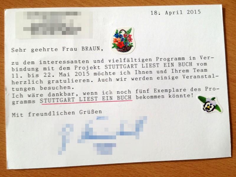 Postkarte zu »<a href=