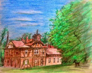 Garnisonsschützenhaus gezeichnet von Christine Lehmann