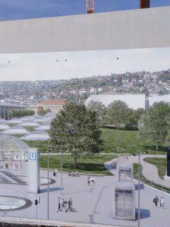 Der neue Stuttgarter Bahnhof im Entwurf