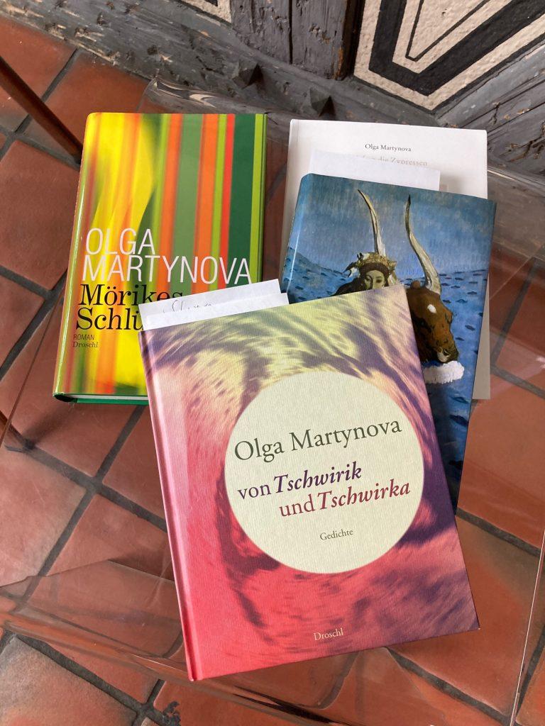Olga Martynova: Die Bücherliste zur Live-Übertragung