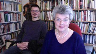 Fabian Neidhardt und Astrid Braun nach dem Podcast-Gespräch im Stuttgarter Schriftstellerhaus.