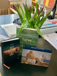 Drei Bücher aus der neuen Edition Klöpfer im Kröner Verlag © Astrid Braun