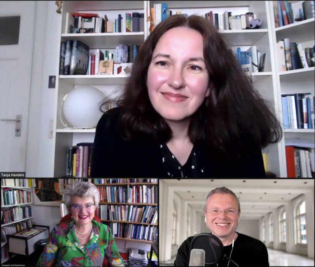 Übersetzerin Tanja Handels im Zoom-Gespräch mit Astrid Braun und Wolfgang Tischer